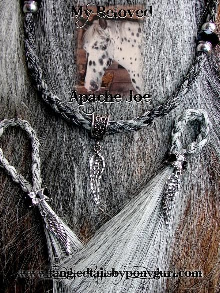 Tangled Tails by PonyGurl horse hair keepsake jewelry custom necklace keychain