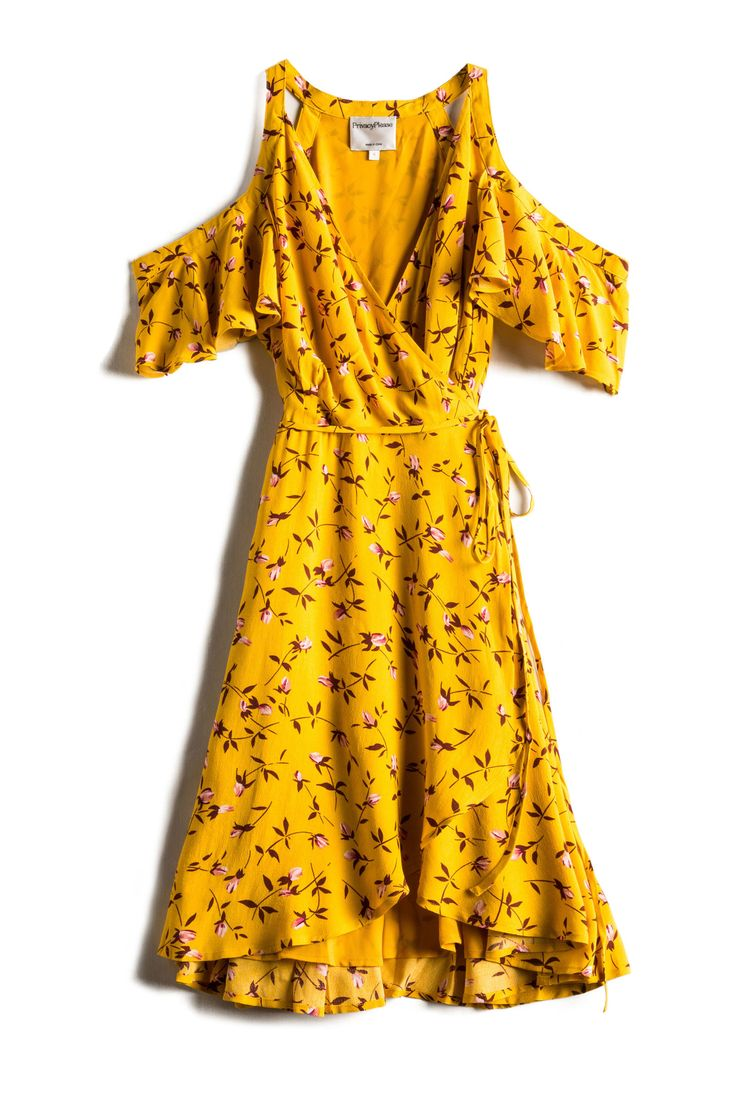 This sunny yellow dress is even sweeter with scattered florals.