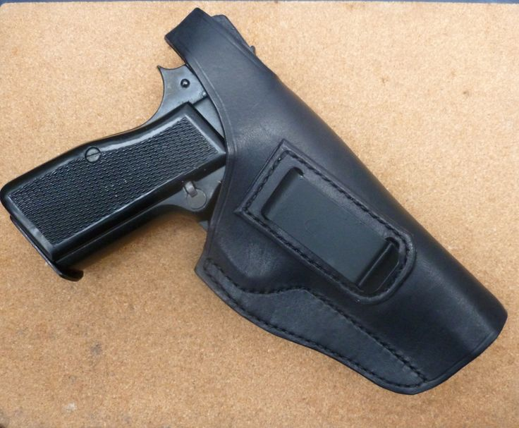 Custom Browning Hi Power IWB clip holster with back snap closing - by makeitjones.co.uk
