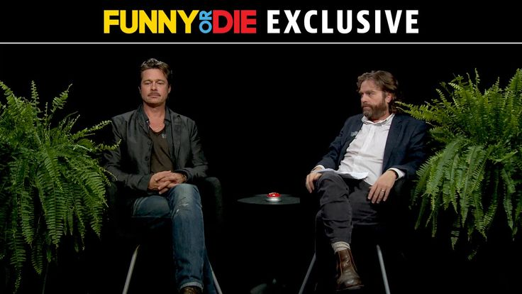 Between Two Ferns with Zach Galifianakis: Brad Pitt. HILARIOUS!!!!!