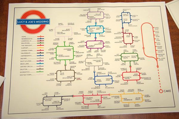underground tube inspired table plan