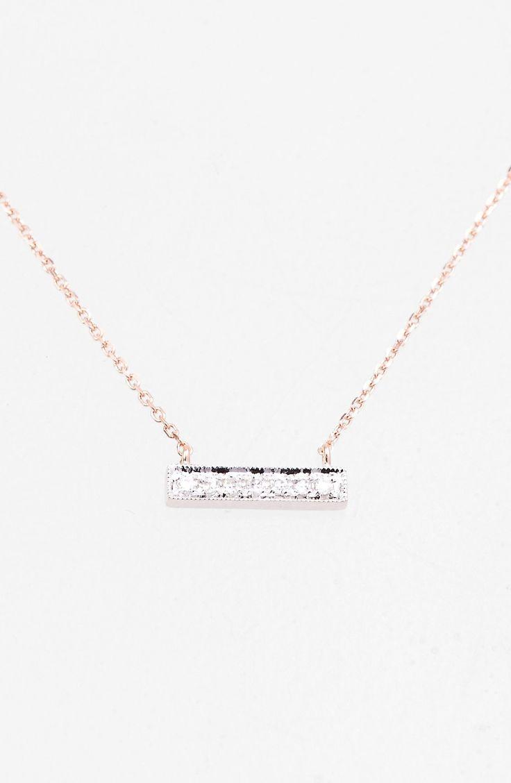 Dana Rebecca Designs 'Sylvie Rose' Diamond Bar Pendant Necklace available at #Nordstrom