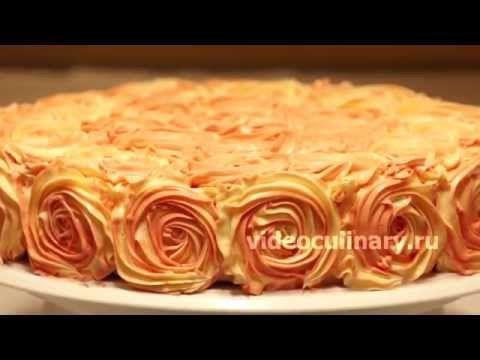 Простой способ украшения тортов - Рецепт Бабушки Эммы - YouTube