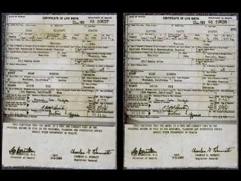 Obama's Long Form Birth Certificate is an OBVIOUS FAKE! Nordyke Twins BC...