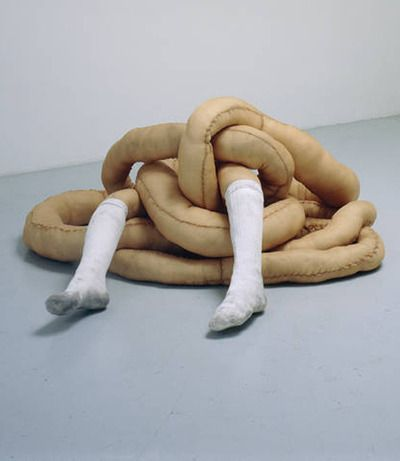 totally disturbing soft sculpture | julia bornefeld sometimes I feel just like this :)