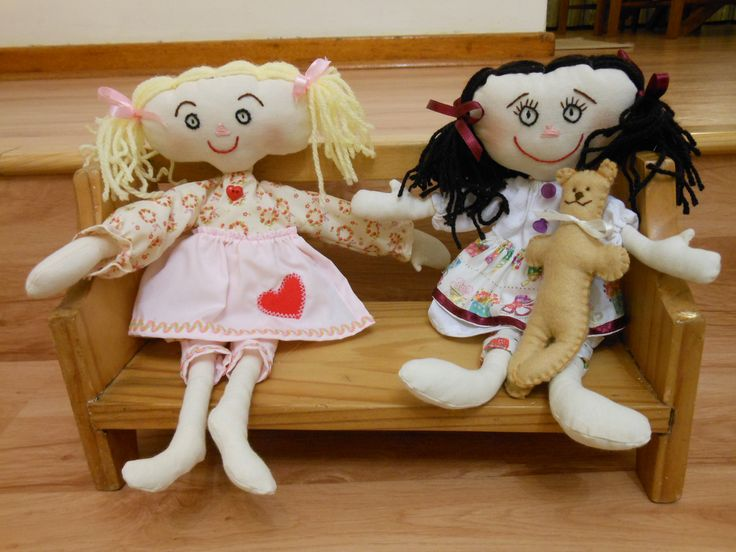 "These ""Pretty Patsy"" rag dolls were fun to make with their skinny arms and legs and I loved the little teddy bear too!"