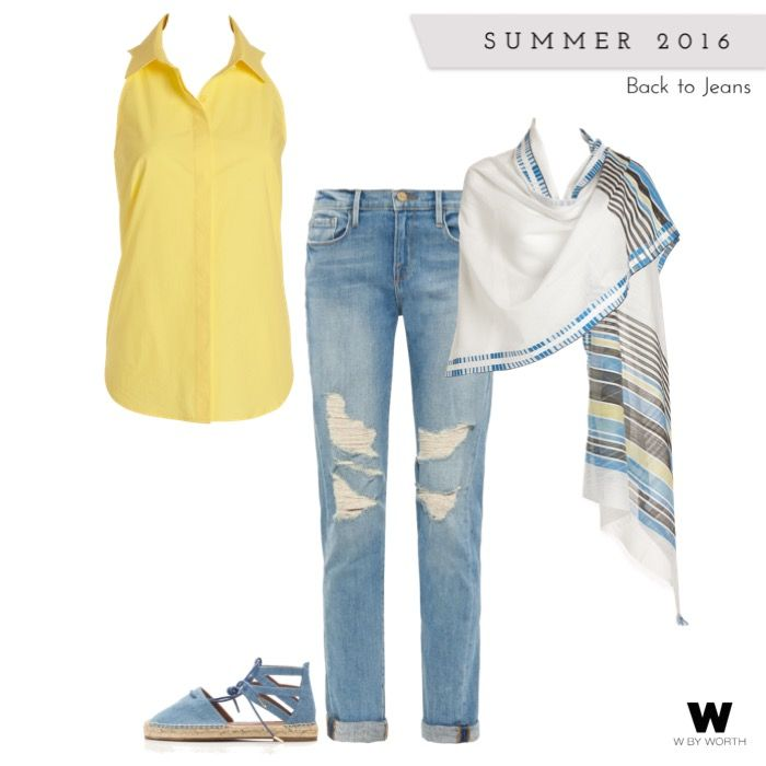 Any stylish girl in the Pittsburgh area knows that summer means a visit to the Pittsburgh Arts Festival. Stand out in a crowd with W by Worth's Sunflower Cutaway Blouse and Oblong Scarf! Beat the heat but always stay cool!