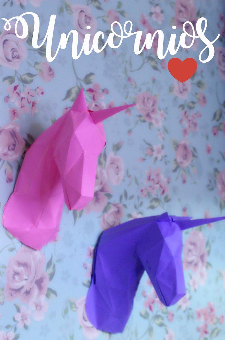 DIY: Como fazer unicórnios de papel