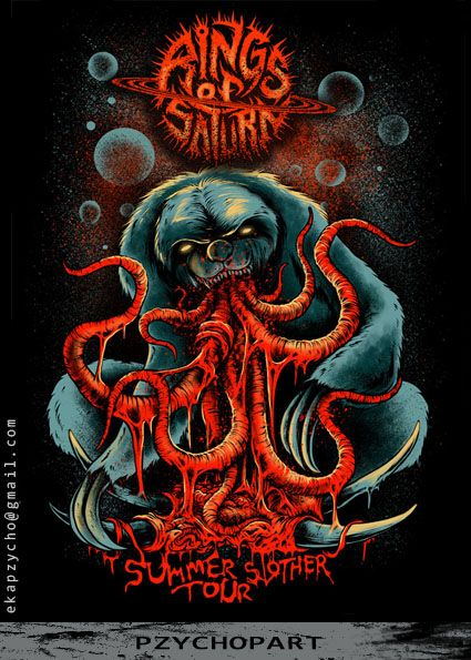Rings Of Saturn Band Poster