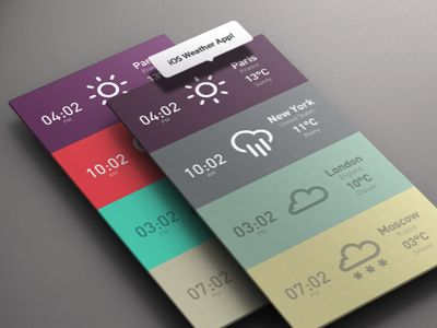 #iOS Weather #app  #design