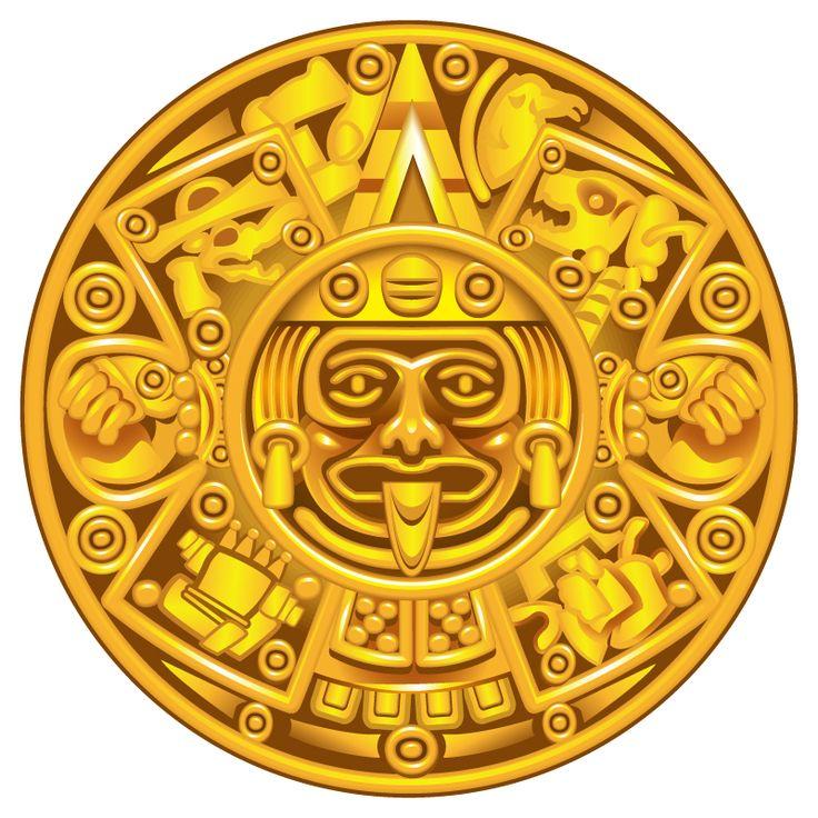 Gold-Mayan-Calendar-Plate.jpg (800×800)
