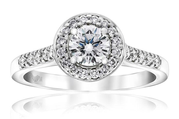 Gerard McCabe Lily Halo Engagement Ring Adelaide, Australia