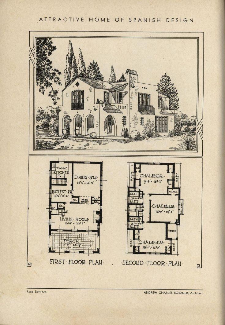 118 best 1910 1940 mediterranean revival images on pinterest for Spanish revival home plans