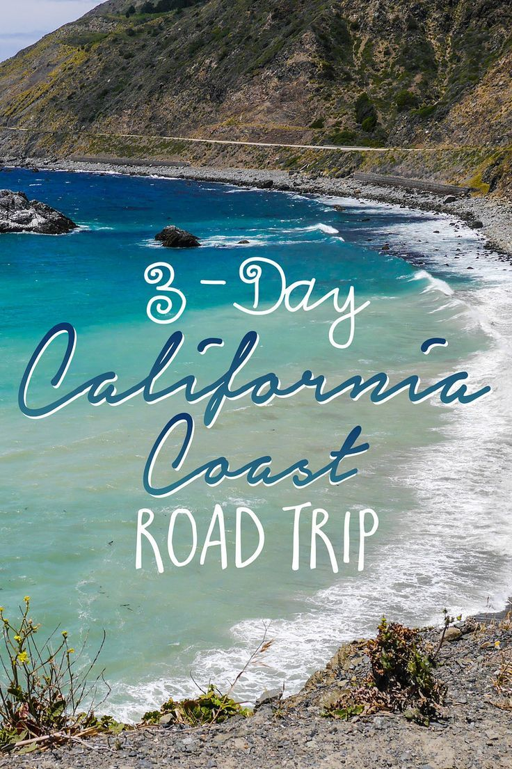 """A visit to California wouldn't be complete without a road trip on the Pacific Coast Highway. This iconic road continues along most of the California coast and can be enjoyed at any pace… whether it's over the course of 1 day or 2 weeks. For the perfect """"sampler platter"""" of sights and activities along this scenic drive, I recommend planning 3 days from Los Angeles to San Francisco. Here are my suggestions for an unforgettable California coast road trip! http://www.worldinfourdays.com"""