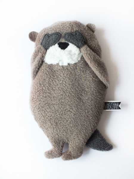 Wärmekissen, Kühlkissen Biber // cool pack, hot pack beaver by maschaa via DaWanda