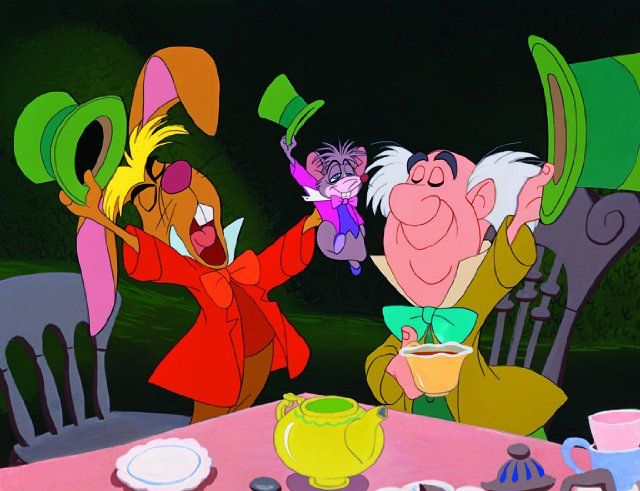 March Hare, Doormouse, and the Mad Hatter in Alice in Wonderland (1951)