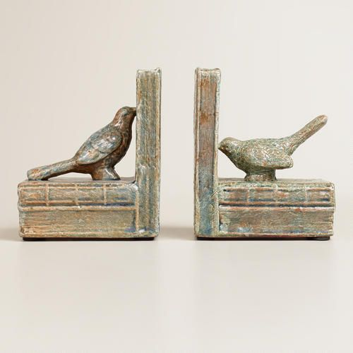 One of my favorite discoveries at WorldMarket.com: Bird Ceramic Bookends, Set of 2-- SO CUTE