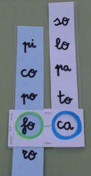Juego para formar palabras a partir de dos sílabas.