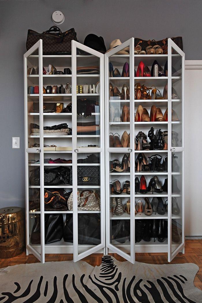 1001 Idees Pour Amenager Un Dressing A Chaussures Rangement Chaussures Ikea Bibliotheque Ikea Billy Petit Meuble Rangement