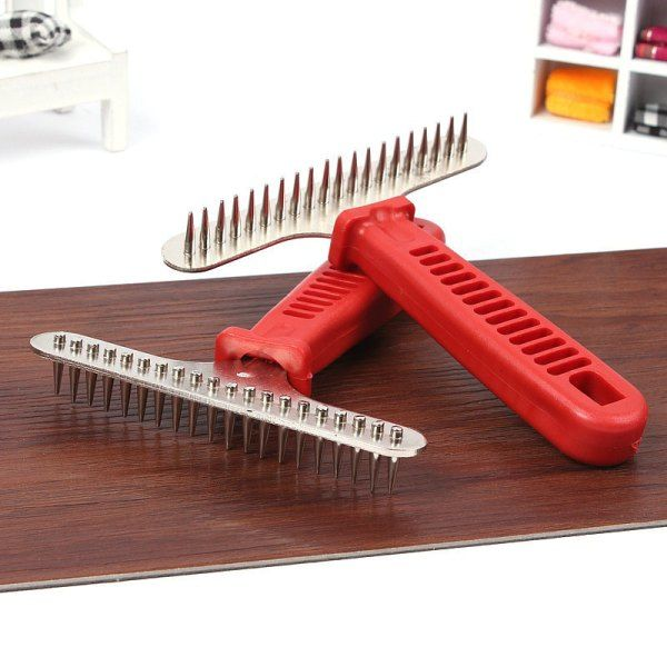 Stainless Steel Comb with Handle | knittedPaws | Price: $7.70 + FREE Shipping     #dog #cat #pet #puppy #grooming #comb