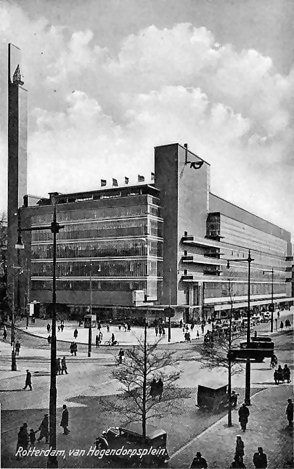 The dutch warehouse De Bijenkorf, designed bij Dudok. It survived the bombing of WOII, but someone decided to destroy it in 1960...shame...