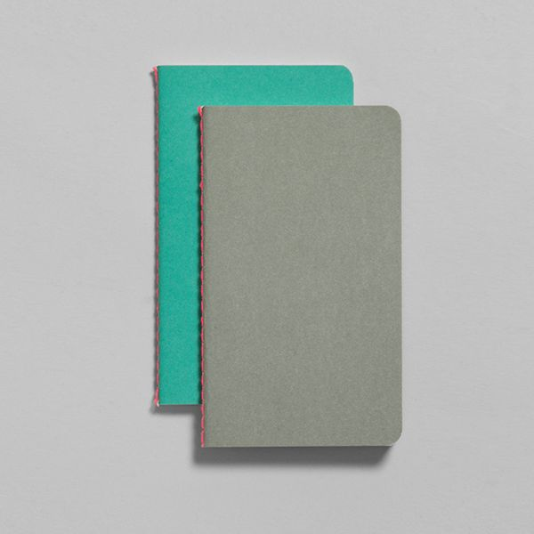 STUDY NOTEBOOKS / Nomess Copenhagen - These colorful study notebooks by Nomess Copenhagen come in sets of 2 notebooks and are available in three sizes: Small, Medium and Large. One notebook has lined pages, the other has graph pages and each has a thick card cover, a stitched spine and a handy pocket on the inner back cover.