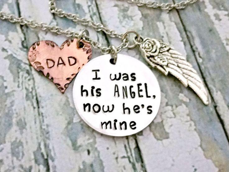 Angel Dad* Memorial Jewelry* Memorial Keepsake* Loss Of Dad* Loss Of Father* Angel Wings* Guardian Angel* Memorial Gift* Sympathy Jewelry* - pinned by pin4etsy.com