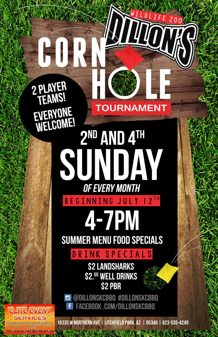 Cornhole Tournament at the ZOO! Call 623.535.4249 for more information.