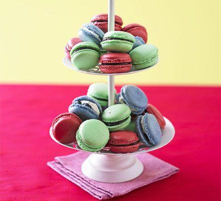 Chocolate & raspberry macaroons recipe - Recipes - BBC Good Food http://pinterest.com/ahaishopping/