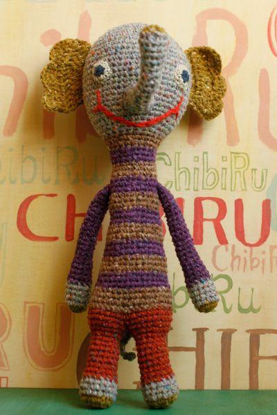 編みぐるみのゾウくん