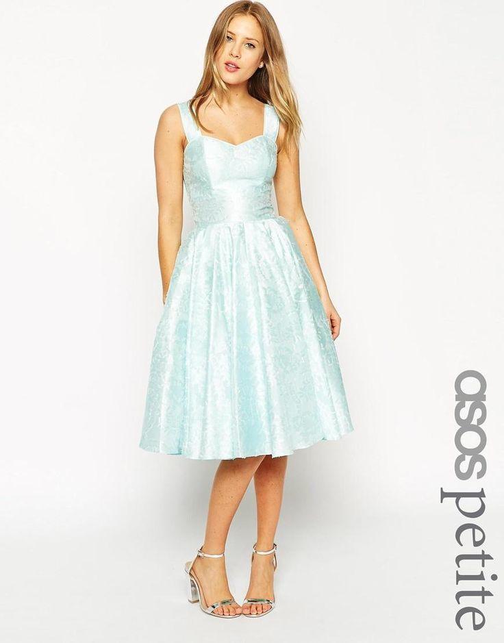 ASOS Petite   ASOS PETITE SALON Floral Jacquard Sweetheart Neck Prom Dress at ASOS
