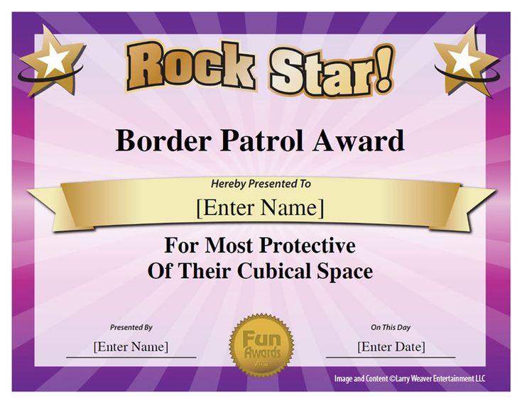 11 best Funny Office Awards images on Pinterest Award - best employee certificate sample