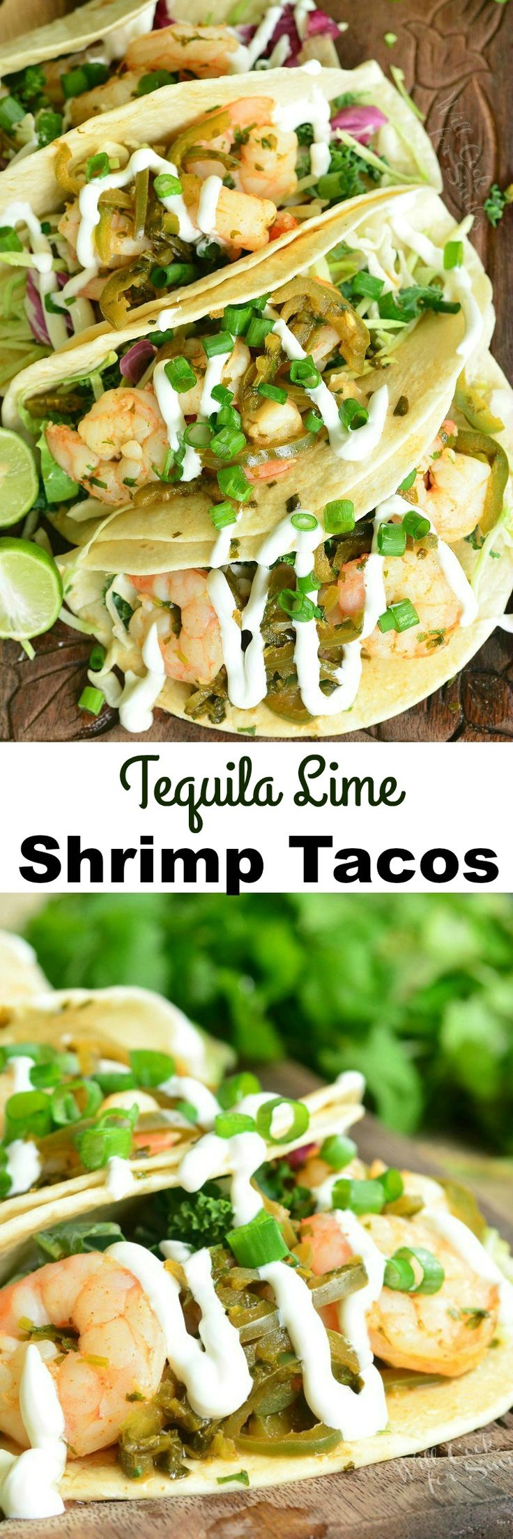 Tequila Lime Shrimp Tacos. Fantastic, light shrimp tacos made in simply and in about 30 minutes.  from willcookforsmiles.com #taco #seafood