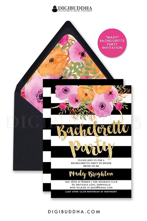50 best images about digibuddha bachelorette party invitations on, Party invitations