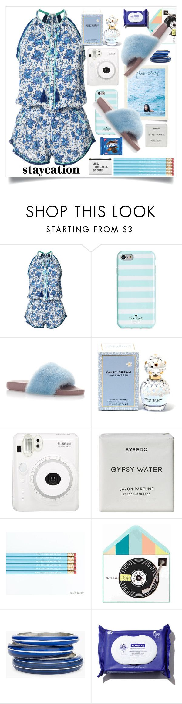 """""""Staycation"""" by wuteringheights ❤ liked on Polyvore featuring Poupette St Barth, Kate Spade, Dolce&Gabbana, Marc Jacobs, Byredo and Chico's"""