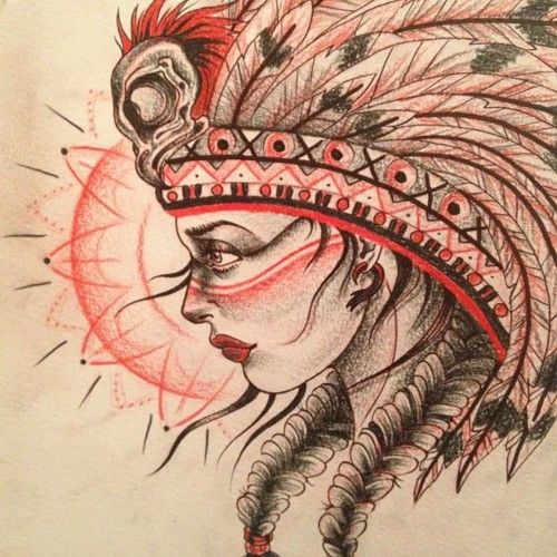 Great White Buffalo Native American Headdress Tattoo: 57 Best Images About Art On Pinterest