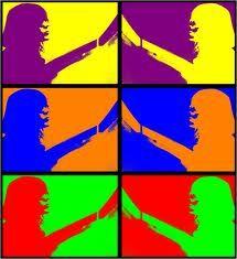 complementaire kleurcontrasten paars / geel,                                     blauw / oranje en                             groen / rood