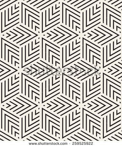 Vector seamless pattern. Modern stylish texture. Repeating geometric tiles from striped triangles. Contemporary graphic design.