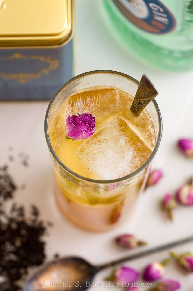 For an Earl Grey Cocktail, infuse gin with Organic Earl Grey by Mighty Leaf and add lemon juice, simple syrup, club soda.  Garnish with edible flowers for Valentine's Day.