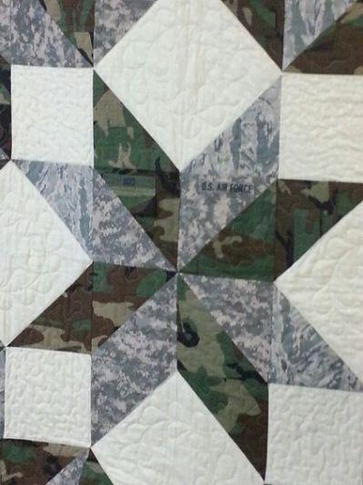 military uniform quilt | Quilts