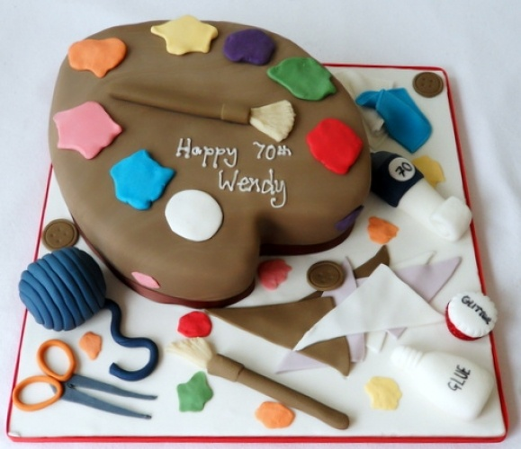 Cake Art Academy Glendale : 105 best Cakes: Art, Paint images on Pinterest Art cakes ...