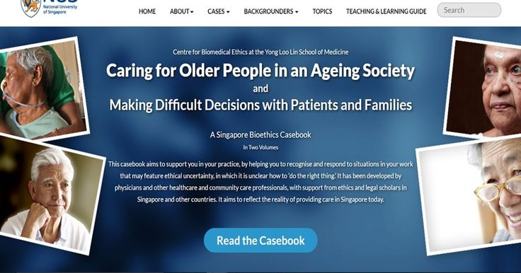 New Bioethics Casebook - Caring for Older People in an Ageing Society