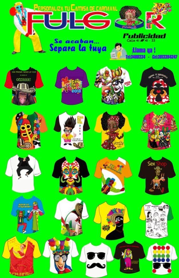 camisetas de carnaval de barranquilla | Camisetas de carnaval de baranquilla