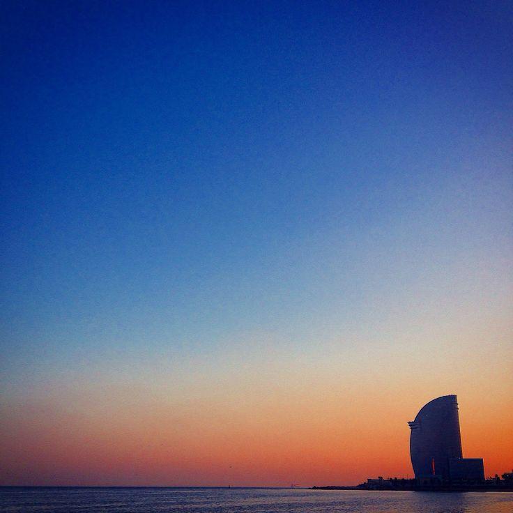 W Hotel at sunset #Barcelona