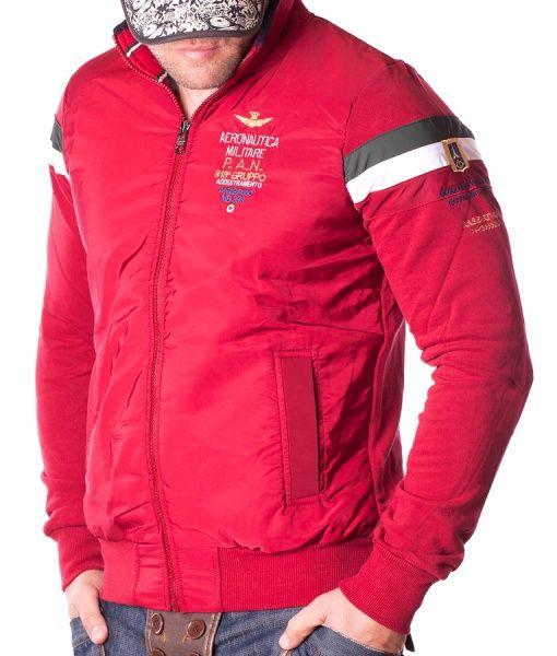Aeronautica Militare Hanorace Cu Fermoar - PAN hanorac cu fermoar rosu