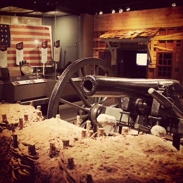 Civil War cannon on display at the AHC by Atlanta History Center, via Flickr