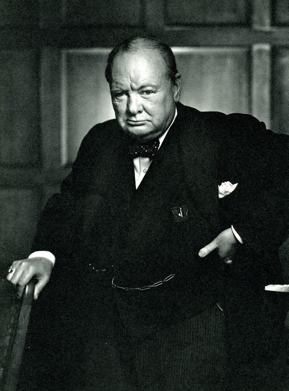Winston Churchill by Yousuf Karsh.