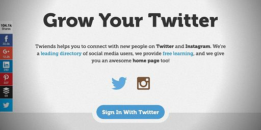 Twiends helps you to connect with new people on twitter in a fun and responsible way. Packed with useful information too!