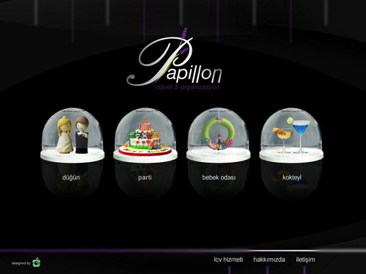 Papillon düğün davet organizasyon için tasarladığım web sitesi sayfa tasarımı
