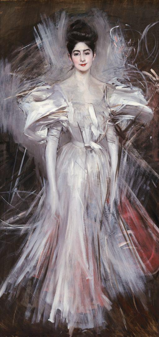 Фейерверк Джованни Больдини Около 1890 Холст, масло. 200 × 99,5 см © Музей Джованни Больдини, Феррара